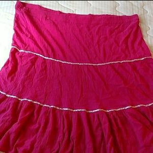 Dresses & Skirts - New Pink Crinkle Skirt Flare Ruffles Fits 3x or 4x